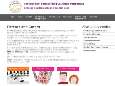 Cheshire East Safeguarding